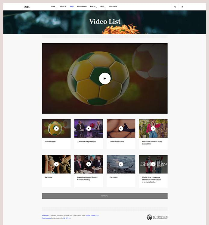 support video page