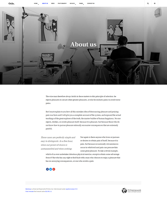 News Magazine Joomla Template student about us layout - JA Oslo