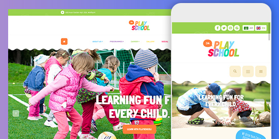 responsive playschool Joomla template