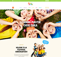 Preschool Kindergarten Joomla Template for kids education - JA Playschool