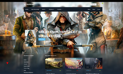 Games Joomla template with reviews and shop - JA PlayStore