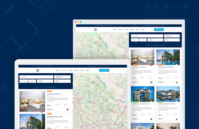 joomla real estate template properties layouts