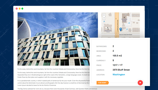 real estate joomla template property details