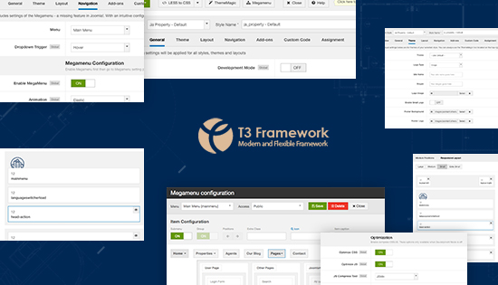 t3 framework real estate joomla template