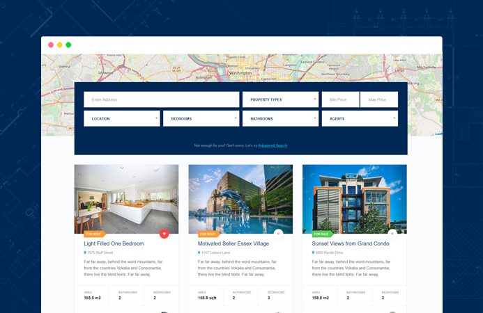 JA Property Advanced Property search and filter