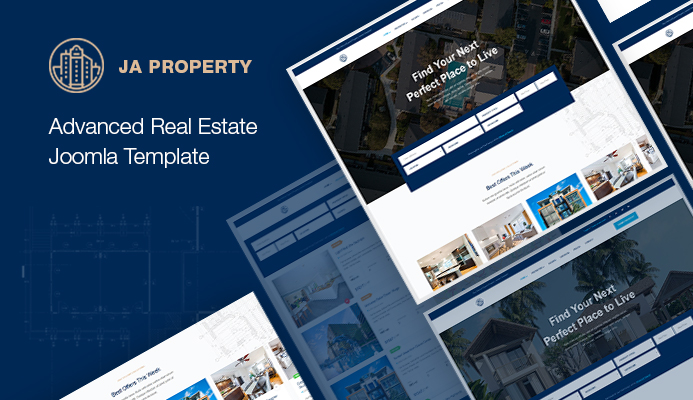 Advance Read Estate Joomla template : JA Property