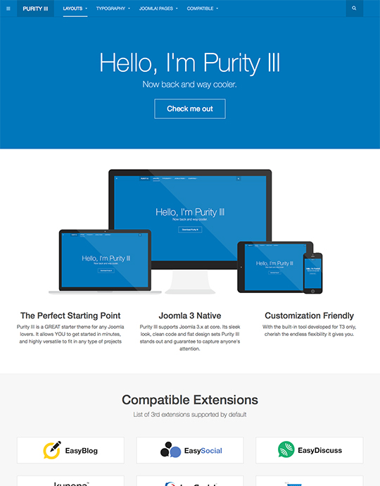 free joomla template for business websites - JA Purity III