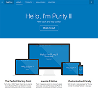 Purity III - the best free responsive Joomla template