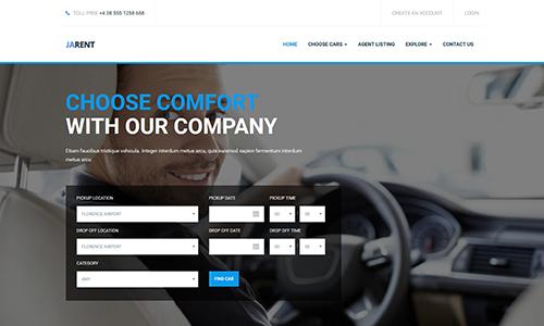 JA Rent - Responsive Joomla template for Vehicle Rental Service
