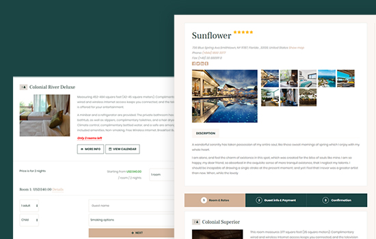 Blog page for events booking joomla template