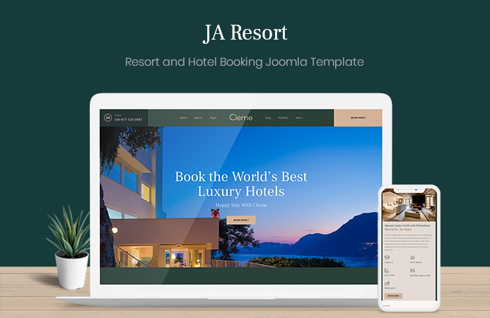 Resort, hotel booking Joomla Template - JA Resort