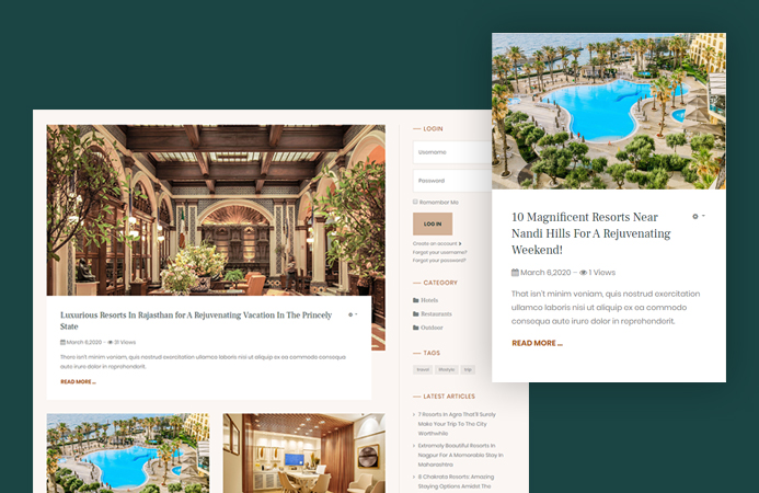 Ready-to-use Blog news pages - JA Resort