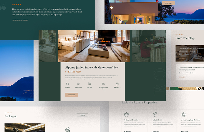 Beautiful content elements - JA Resort Joomla template