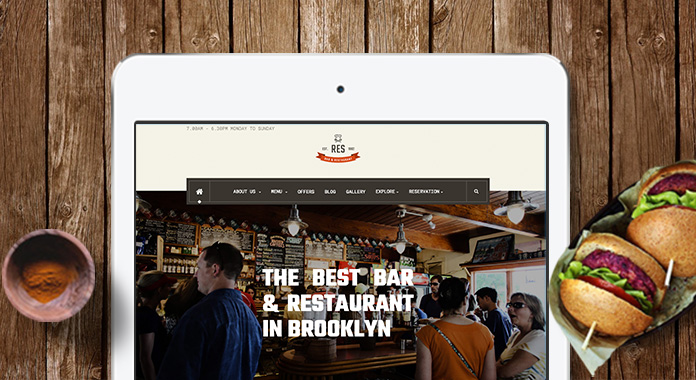Introducing the best restaurant Joomla template -