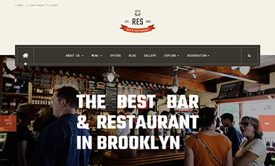 Responsive Restaurant Cafe Bar Joomla template - JA Restaurant