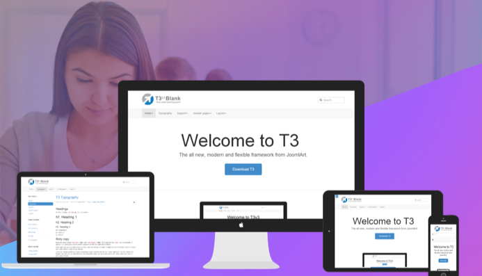 built with t3 joomla template framework