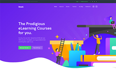 Education Joomla Template with LMS - JA Sensei
