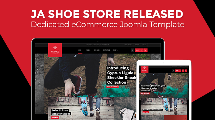 Review | Features : Shoe Store eCommerce Joomla template - JA Shoe Store