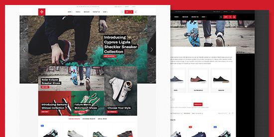 eCommerce Shoe Store Joomla Template