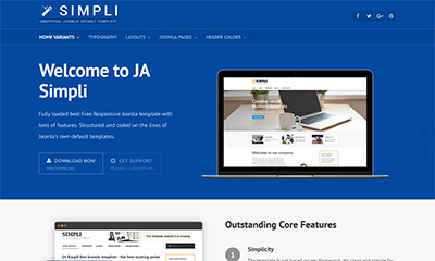 ja simpli the best free default joomla template - Free Joomla Templates