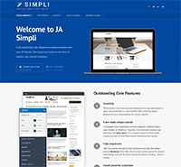 JA Simpli - the best Free default Joomla template