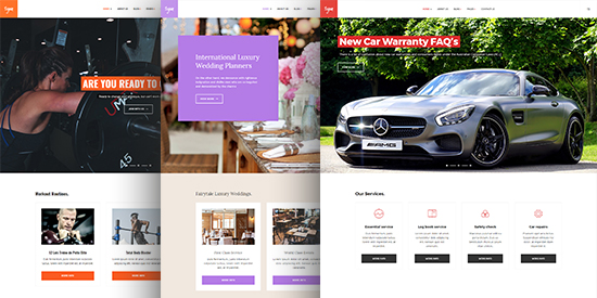 multiple layouts business joomla template