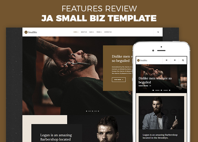 Review | Features : Creative Business Joomla template - JA Small Biz