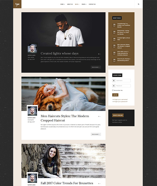 Small Business Joomla Template blog layout - JA Small Biz