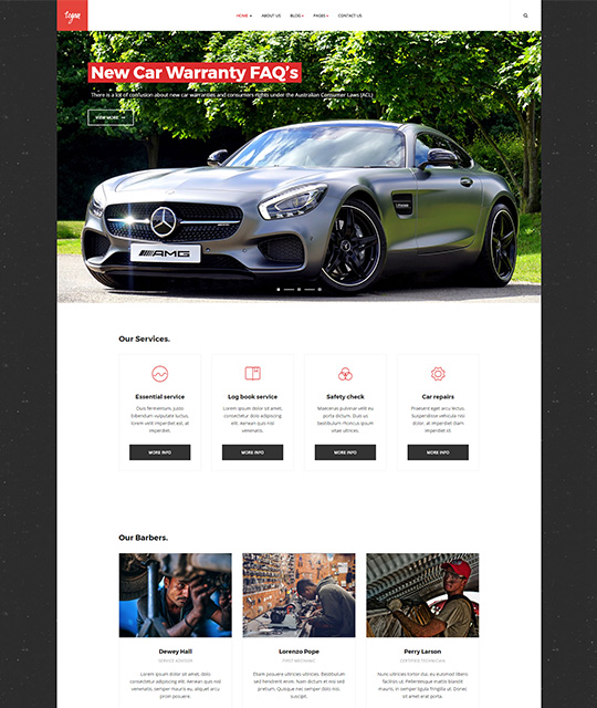 Small Business Joomla Template car service - JA Small Biz