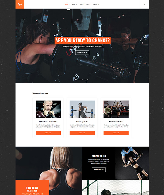 Small Business Joomla Template Gym - JA Small Biz