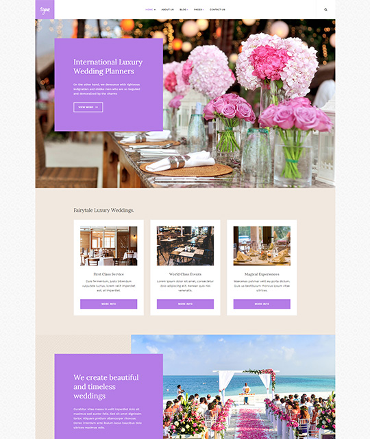 Small Business Joomla Template wedding planner - JA Small Biz
