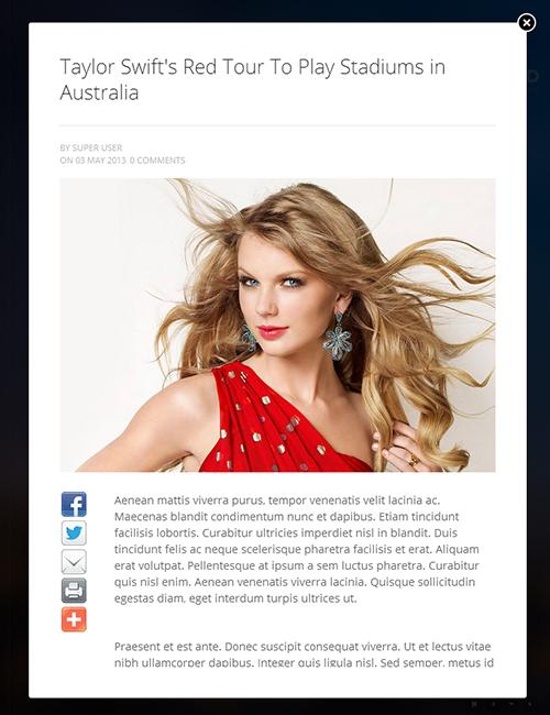 Showcase Joomla template - JA Smashboard details page