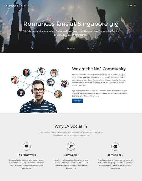 Community Joomla template - JA Social II