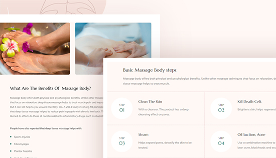 Beauty services Joomla template