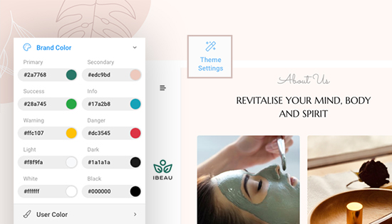beauty spa Joomla template built with t4 framework