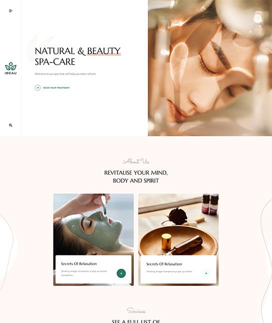 Beauty Salon Joomla template - JA Spa