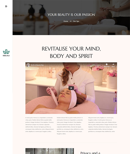 Joomla beauty services template - JA Spa