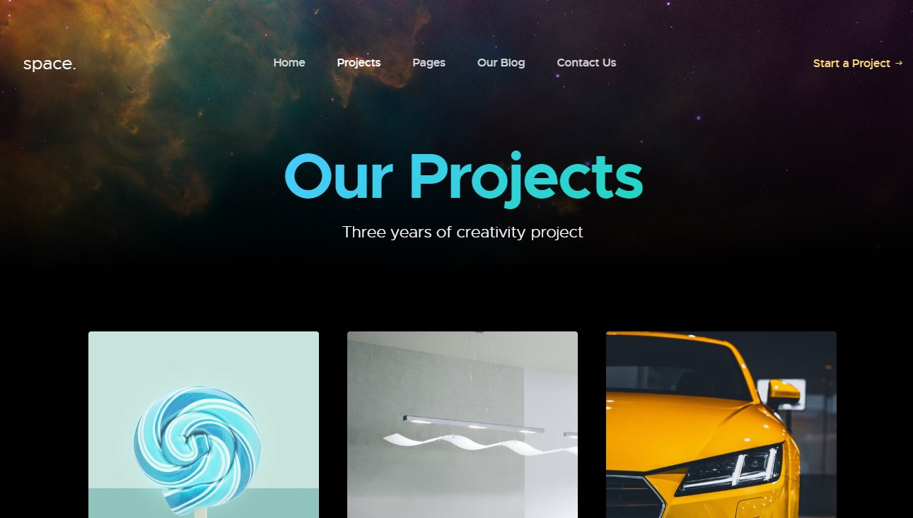our project page JA Space