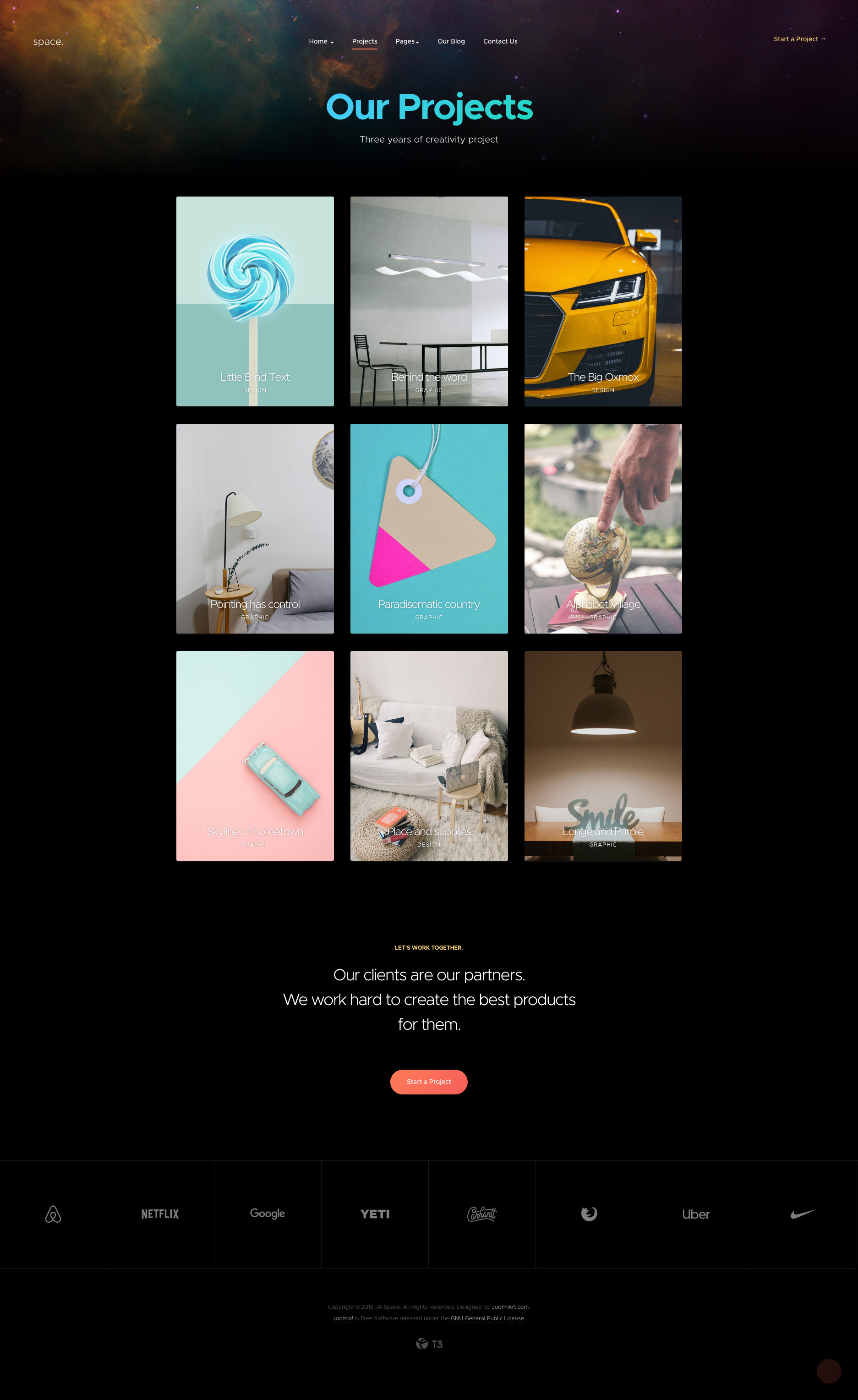 Preview Creative Joomla Template For Portfolio And Agency