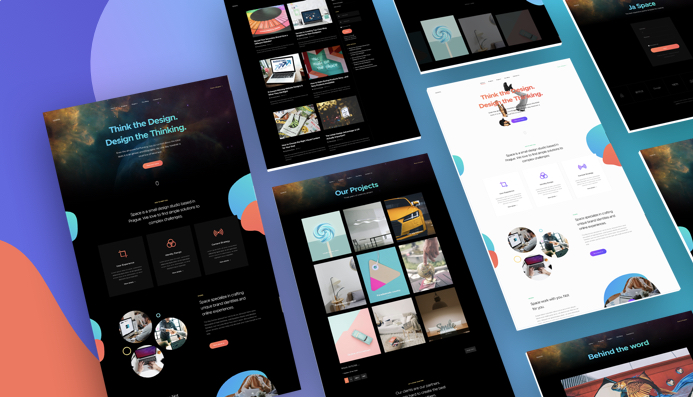 JA Space portfolio and Agency Joomla template