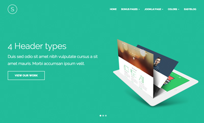 JA Sugite - Responsive Joomla Template for portfolio
