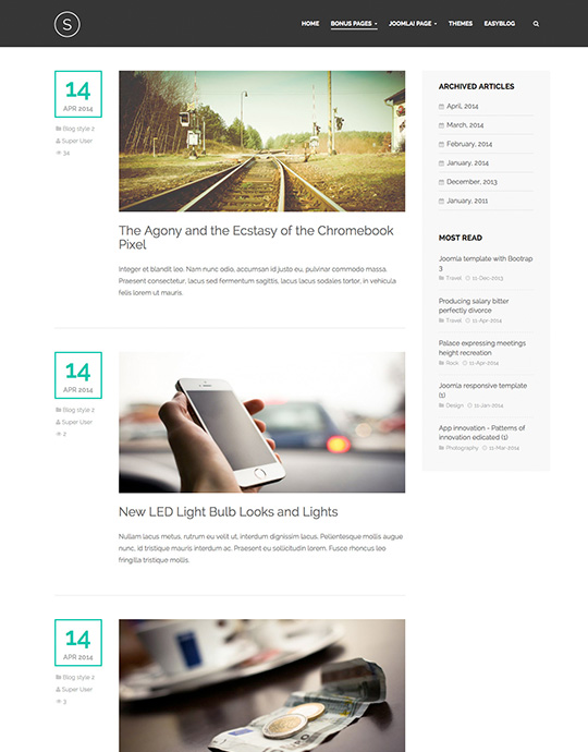 Blog page for portfolio template - JA Sugite