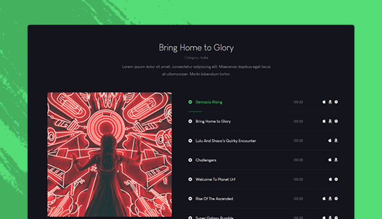 music joomla template JA Symphony