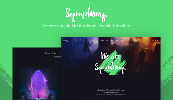 JA Symphony music & band and music events Joomla template