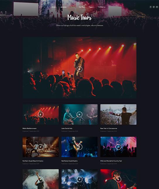 video music joomla template - JA Symphony