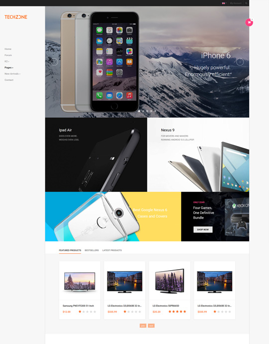 Joomla template for app store website organe theme - JA Techzone