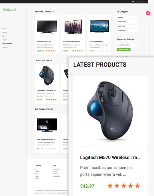 Tech product Joomla template - JA Techzone