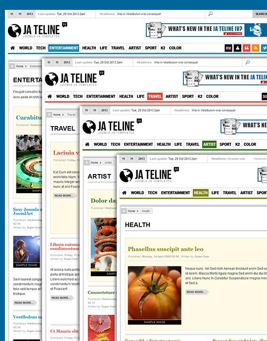 News Joomla template - JA Teline iv themes