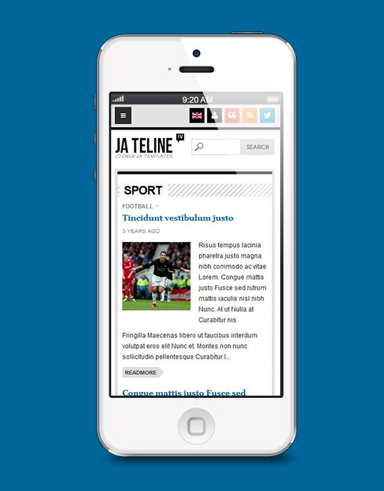 Responsive news Joomla template - JA Teline iv