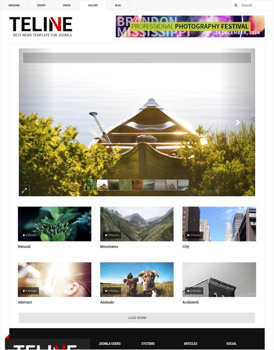 Magazines Joomla template image gallery - JA Teline V